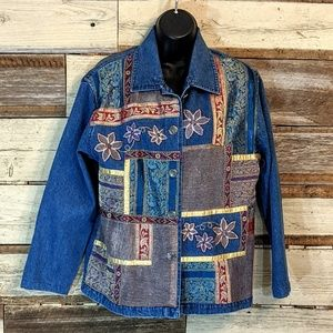 Patchwork and Beaded Jean Jacket Beautiful! Boho